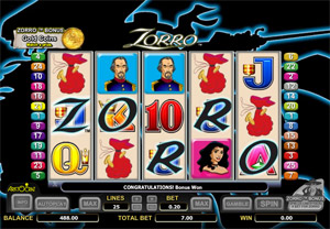 free casino game zorro