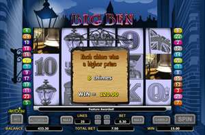 Win the Big Ben feature and win up to 500x bet
